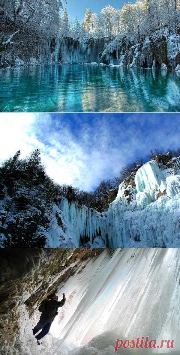 Замерзшие водопады | В отпуск хочу!