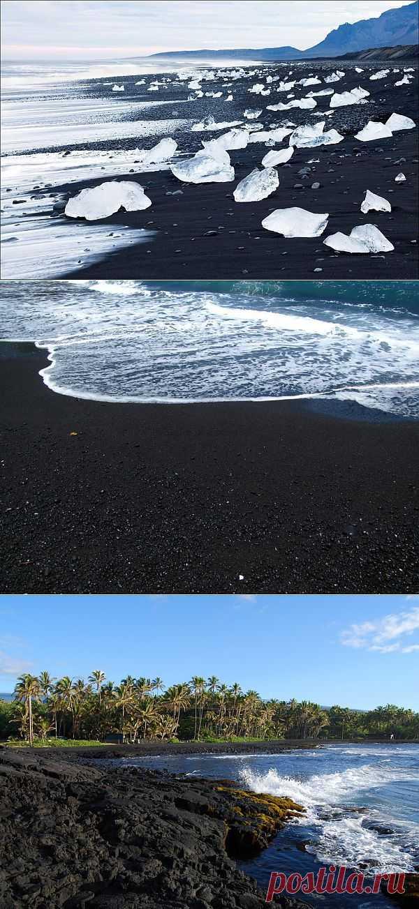 15 невероятных пляжей с черным песком : НОВОСТИ В ФОТОГРАФИЯХ