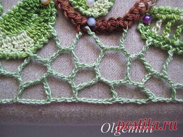 незегулярная сетка ( для соединения элементов в ирландском вязании)