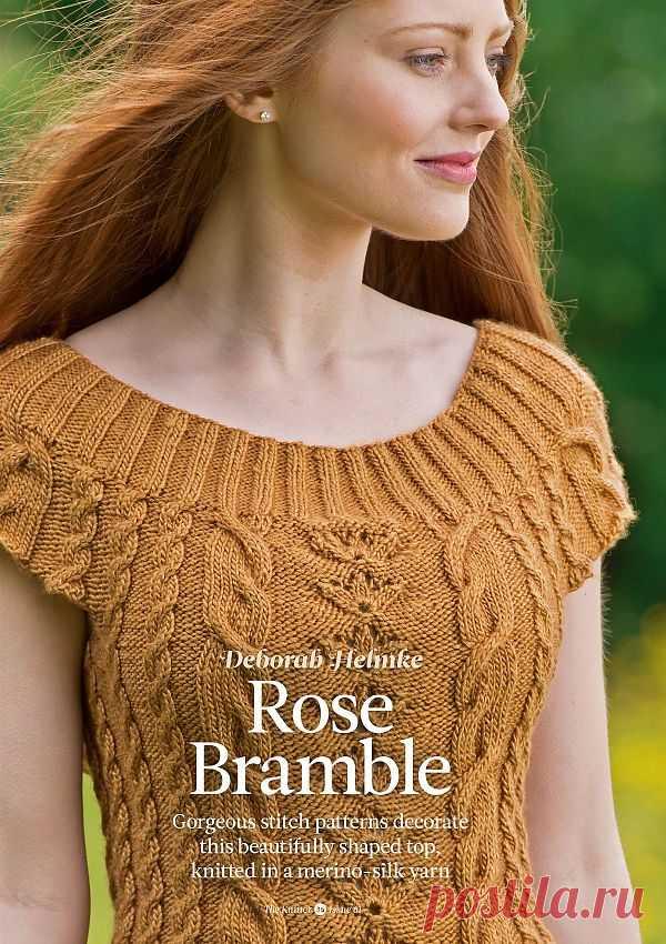 Вязание топа Rose Bramble, The Knitter 61