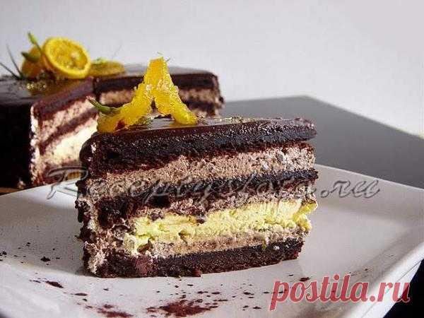 Вкусный шоколадный торт «Ривьера»