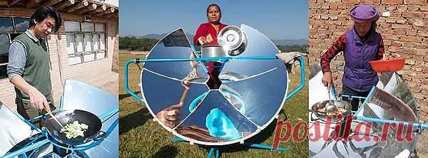 Экологический гриль, работающий на солнечных лучах...