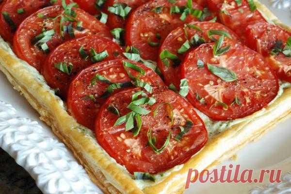 Тарлететка с томатами и базиликом. Пошаговый рецепт с фотографиями.