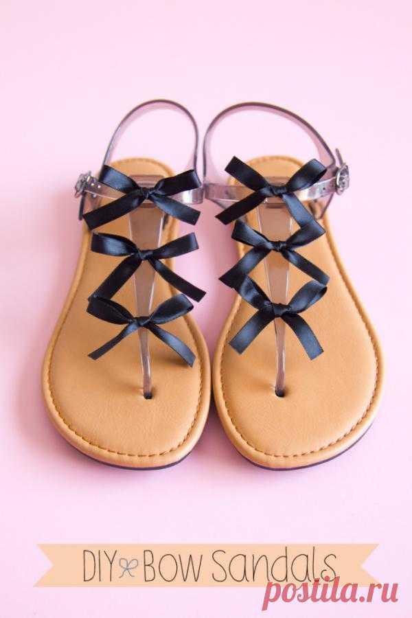 Декор шлепанцев бантиками (Diy) / Обувь / Модный сайт о стильной переделке одежды и интерьера