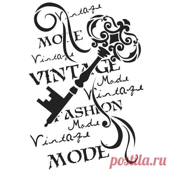 Plantilla de plástico láser, DIN A4, llave vintage   Plantillas textiles   Diseño textil   Suministros de artesanía   Ideas con corazón