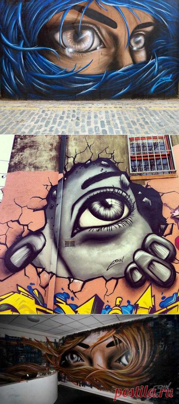 Работы уличного художника Eoin