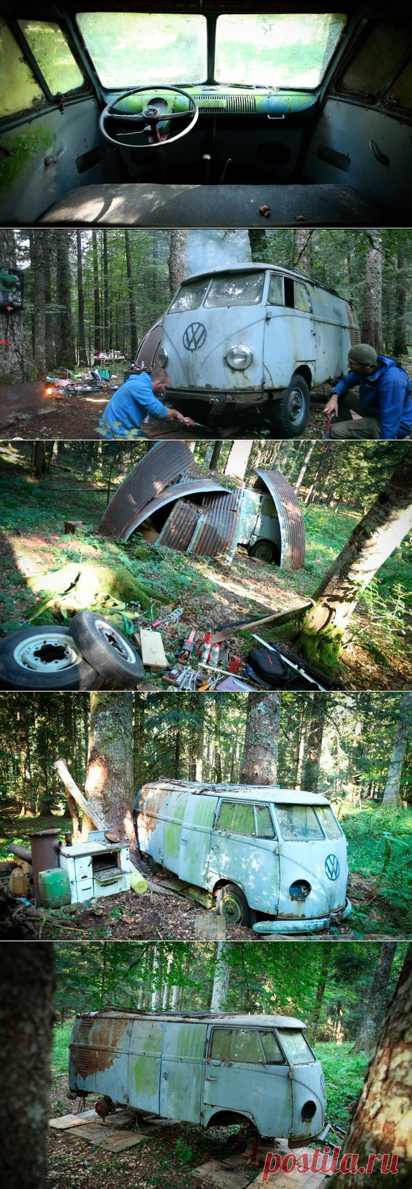 Невероятная история спасения Volkswagen T1, который 40 лет простоял в лесу | Старый Гараж | Яндекс Дзен