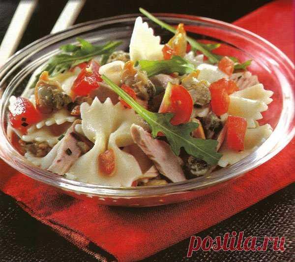 Обалденный салатик с макаронами и тунцом
