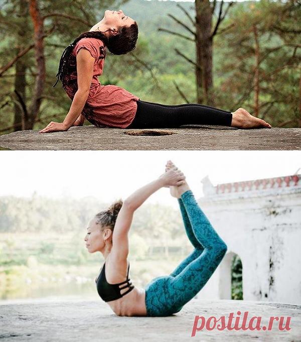 Бхуджангасана. 👉Правила выполнения прогибов назад... | Интересный контент в группе В здоровом теле- здоровый дух!