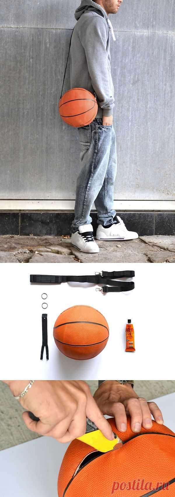 Сумка из баскетбольного мяча (Diy) / Креатив / Модный сайт о стильной переделке одежды и интерьера