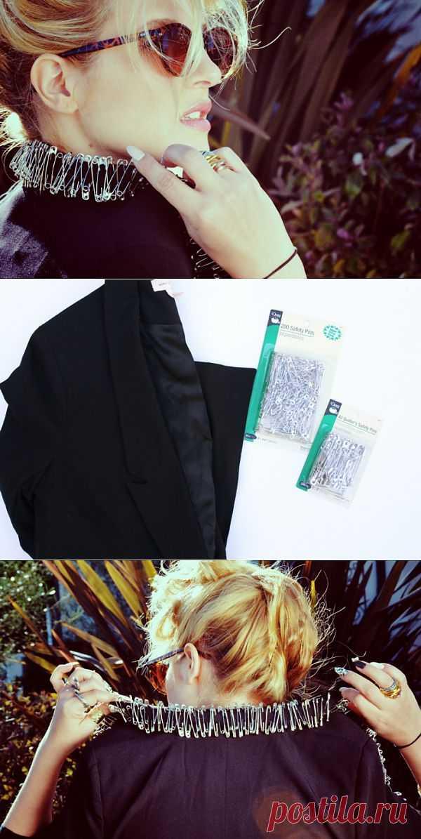 Блейзер с булавками (DIY) / Жакеты / Модный сайт о стильной переделке одежды и интерьера