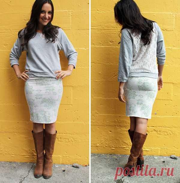 Переделка свитшота (идея) / Худи / Модный сайт о стильной переделке одежды и интерьера