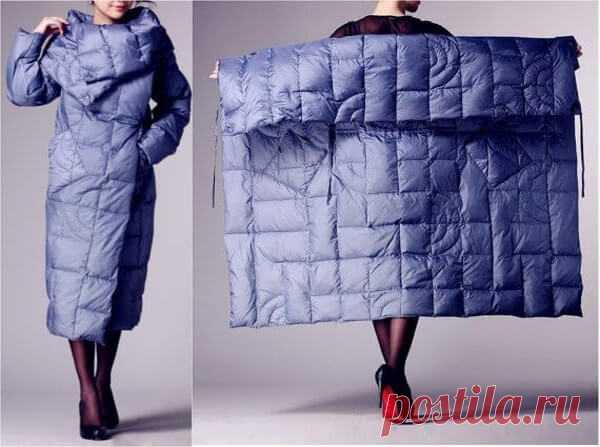 Стеганая куртка из квадрата своими руками Эту оригинальную куртку можно сшить из стеганого материала как на фото, или же попробовать другие варианты: сшить куртку из меха, плотной ткани и др