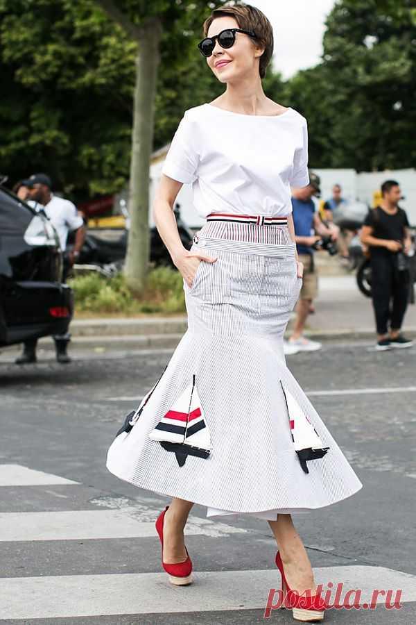 Девушка французского моряка / Юбки и их переделки / Модный сайт о стильной переделке одежды и интерьера
