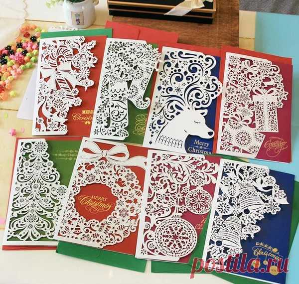 Рождественские открытки вытынанки своими руками, пожеланием спокойной