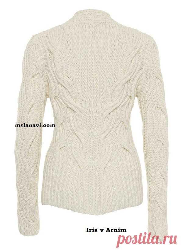 свитер английской резинкой спицами вяжем с лана ви вязание постила