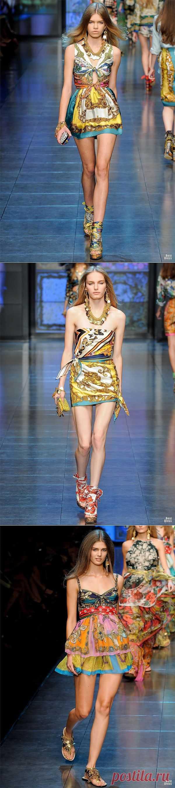 D&G 2012 (трафик) / Платки / Модный сайт о стильной переделке одежды и интерьера