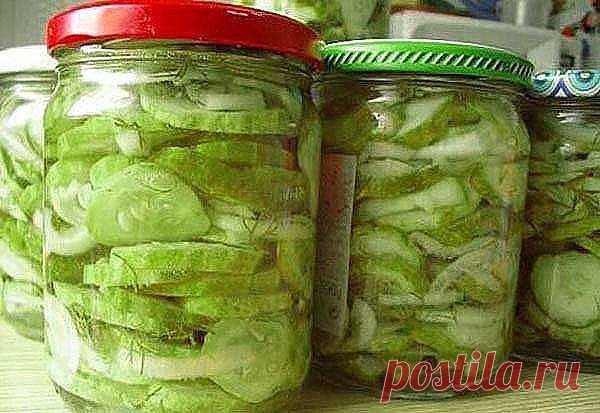 Сырой салат из огурцов на зиму