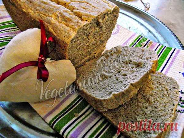 Хлеб из зеленой гречки (без глютена и дрожжей) Всего три ингредиента и вкусный полезный хлеб готов! Полностью безглютеновый и бездрожжевой!