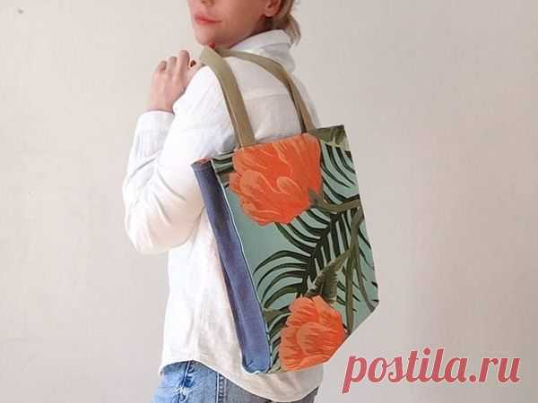 Мастер-класс: Шьем простую сумку-шоппер с подкладкой | Журнал Ярмарки Мастеров