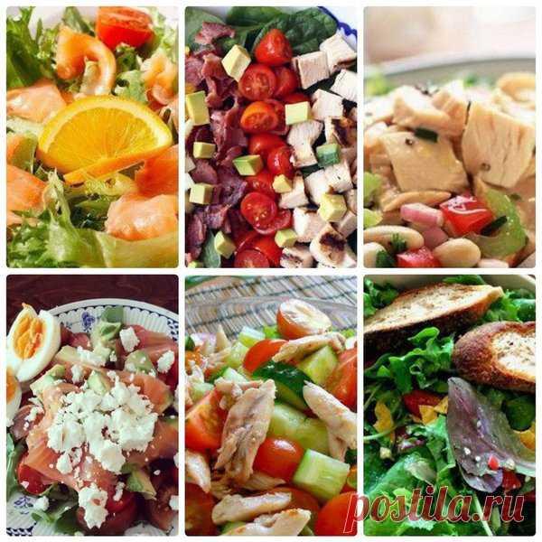 6 белковых салатов для похудения на ужин | Похудение и стройная фигура | Яндекс Дзен
