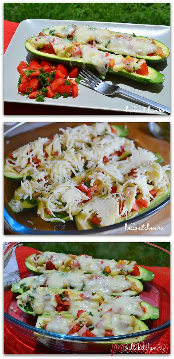 Фаршированные цуккини. В этом варианте рецепта мы фаршируем цуккини овощами и зеленью, но можно добавить всё что вам нравится, например, фрукты, рис, мясной фарш или красную рыбу, любую зелень, например базилик, любые специи и сыр.
