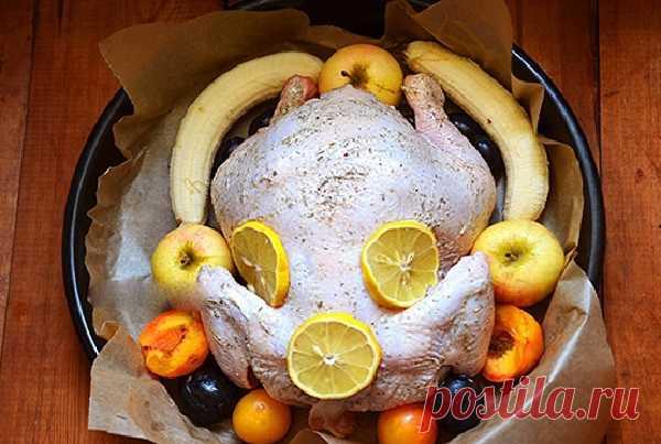 Курица с фруктами для праздничного стола — ХОЗЯЮШКА