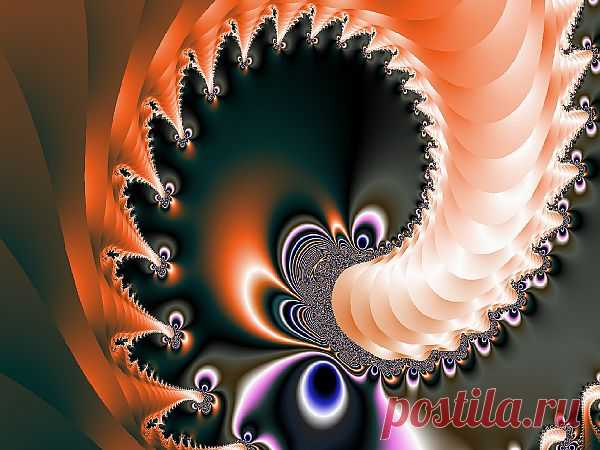 Digital Fractal Spiral  Free Stock Photo HD - Public Domain Pictures