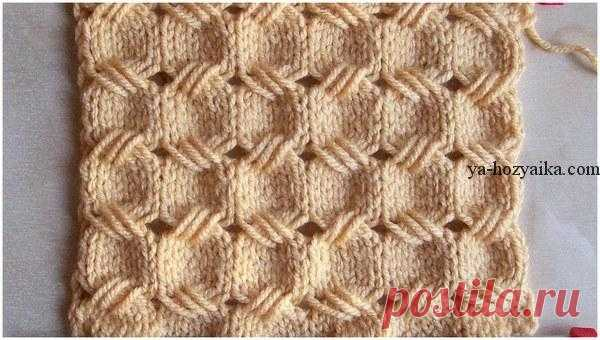 Pattern spokes from the extended loops. Detailed video a lesson for beginners the Openwork pattern spokes from the extended loops. Detailed video a lesson for beginners