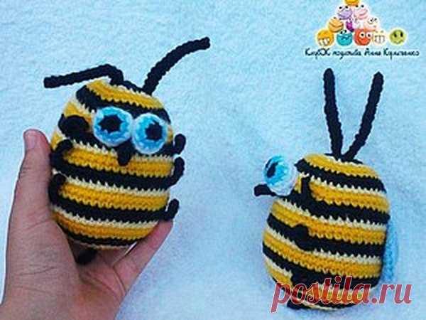 Позитивная пчёлка крючком :) | Журнал Ярмарки Мастеров
