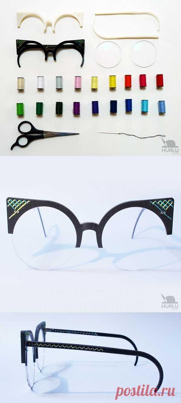 """""""Weaview"""" - очки с вышивкой на оправе от """"Hurlu"""" / Декор очков / Модный сайт о стильной переделке одежды и интерьера"""