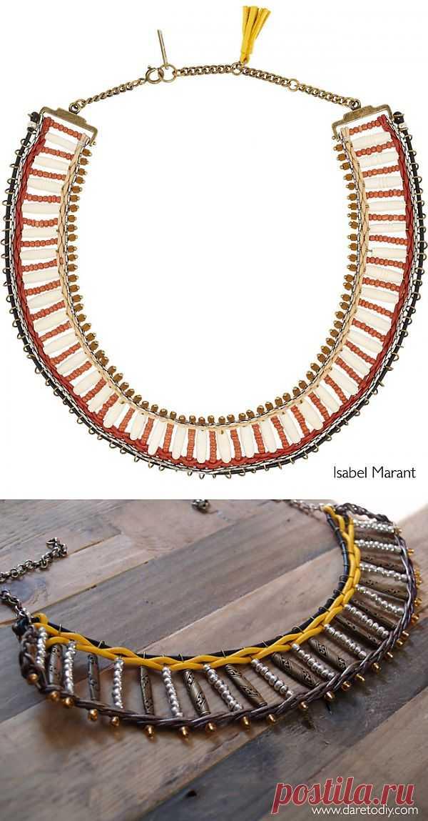 Повтор колье Isabel Marant (видео) / Украшения и бижутерия / Модный сайт о стильной переделке одежды и интерьера