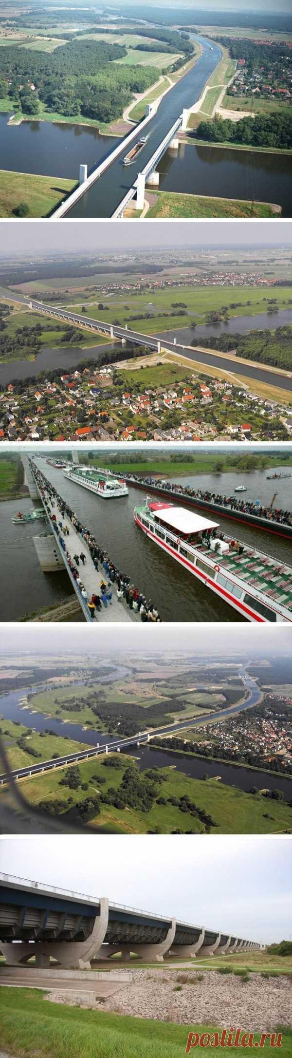 Это удивительно! Водный мост над рекой! Германия