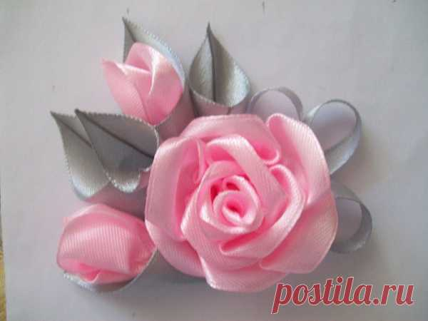 """Graceful brooch """"Роза"""" the hands"""