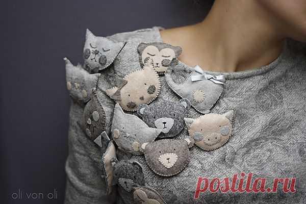 Брошки животные / Украшения и бижутерия / Модный сайт о стильной переделке одежды и интерьера