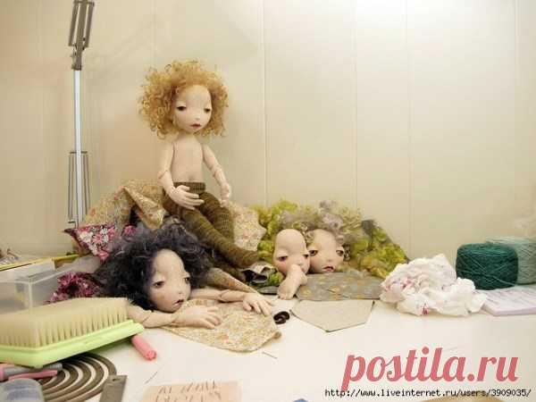 МК: шарнирная кукла из фетра | all Dolls
