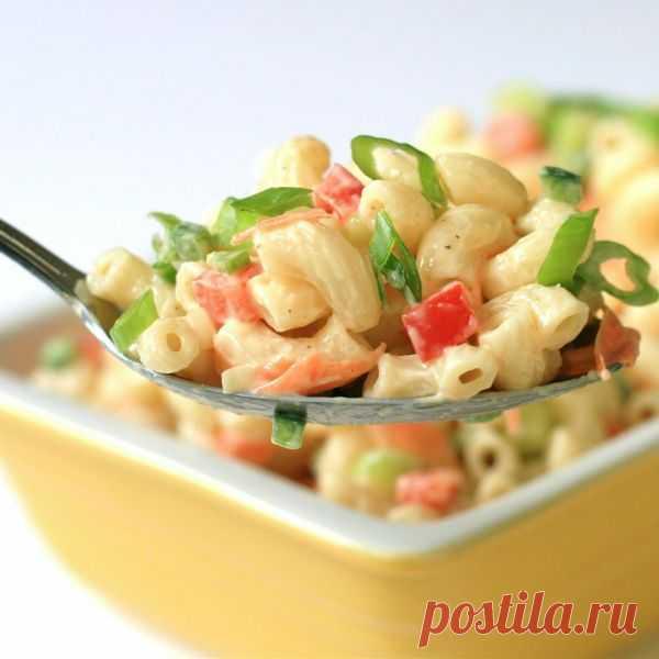 ༺🌸༻Холодный салат с макаронами и овощами - идеальный для лета