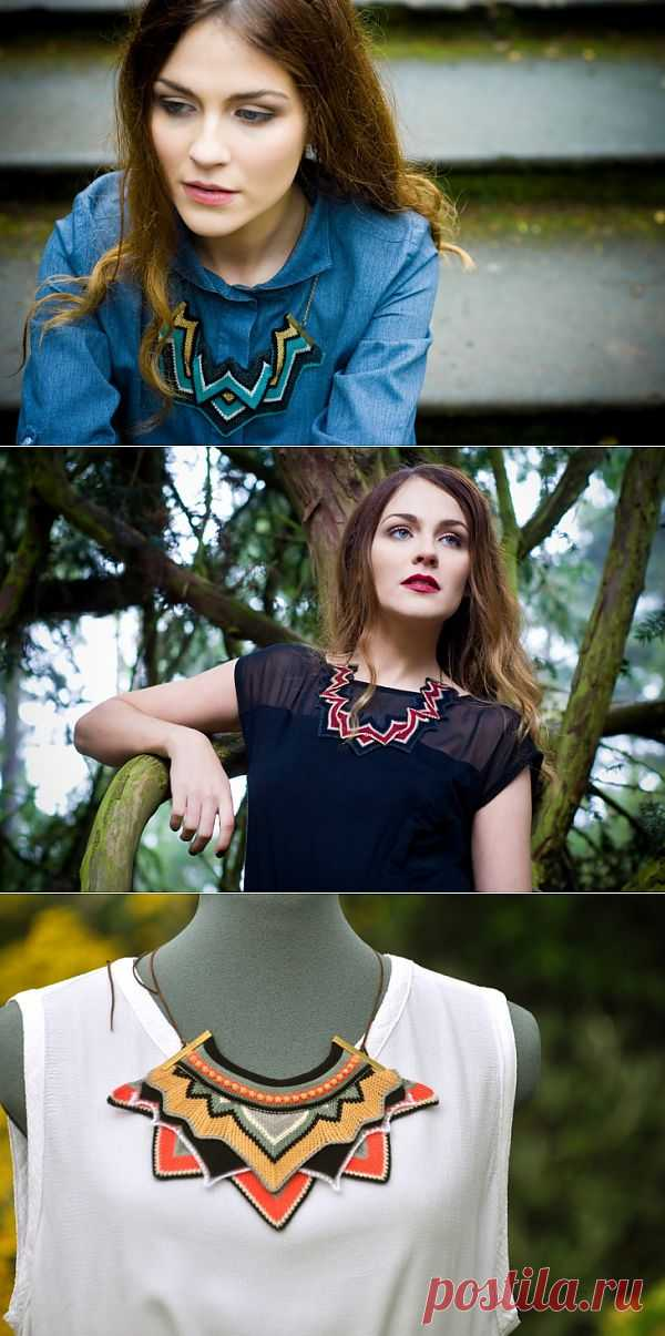Вязаные украшения (трафик) / Украшения и бижутерия / Модный сайт о стильной переделке одежды и интерьера