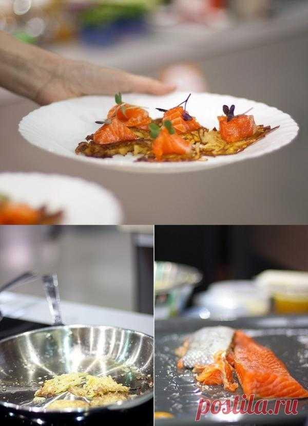 Картофельные драники с семгой - простой рецепт, известный всем, казалось бы, но подача!!!