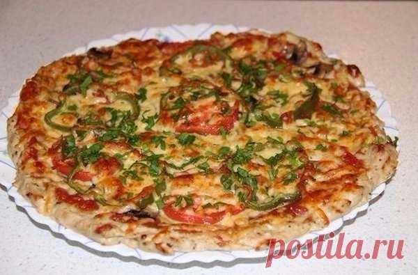 Куриная пицца без грамма муки! | Домашняя еда | Яндекс Дзен