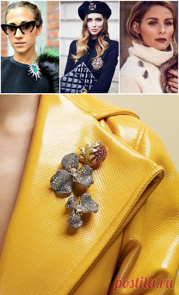 Аксессуар вне времени: 12 идей, как можно носить броши — HandMade