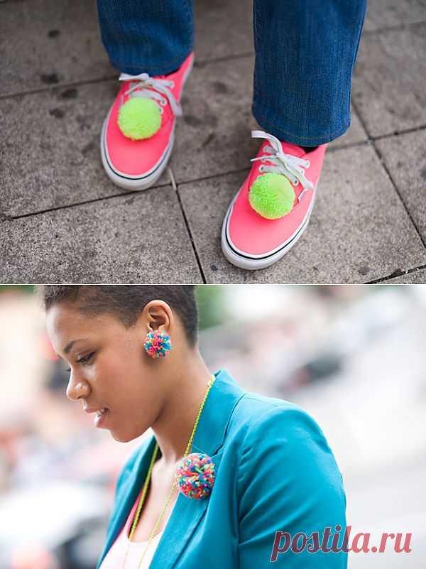 Помпоны на обуви / Обувь / Модный сайт о стильной переделке одежды и интерьера