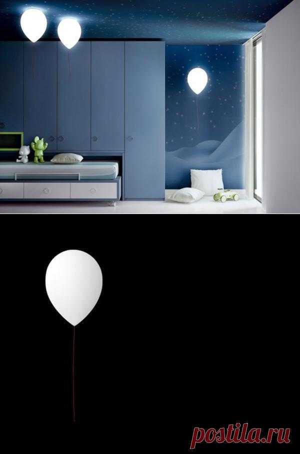 Светильники в виде воздушных шариков оригинальная идея для детских