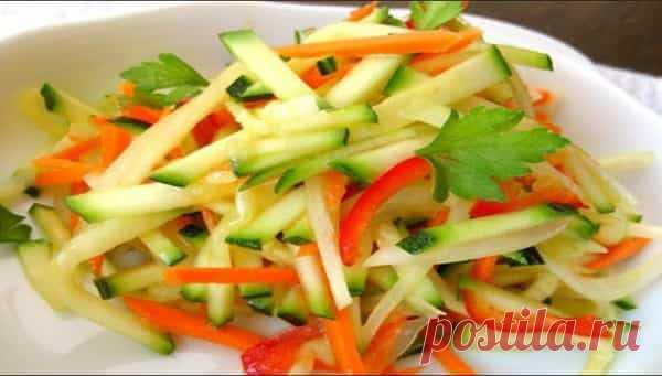 Салат кабачки по корейски рецепт с пошагово