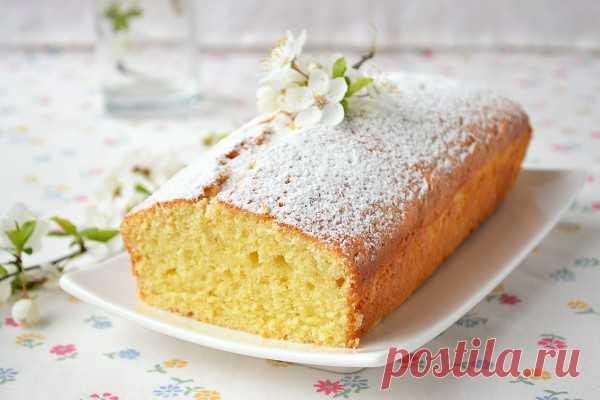 Английский фунтовый кекс с апельсином и орехами -