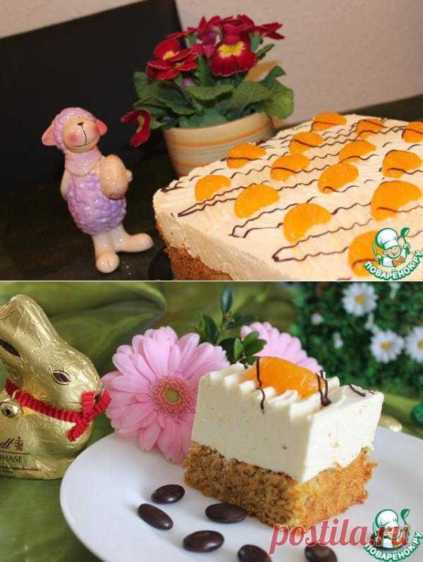 Пирог морковно-мандариновый - кулинарный рецепт