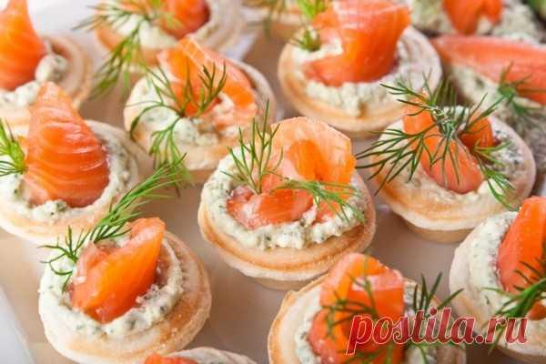 Тарталетки закусочные с красной рыбой – кулинарный рецепт с фото, как приготовить на Вкусно Дома