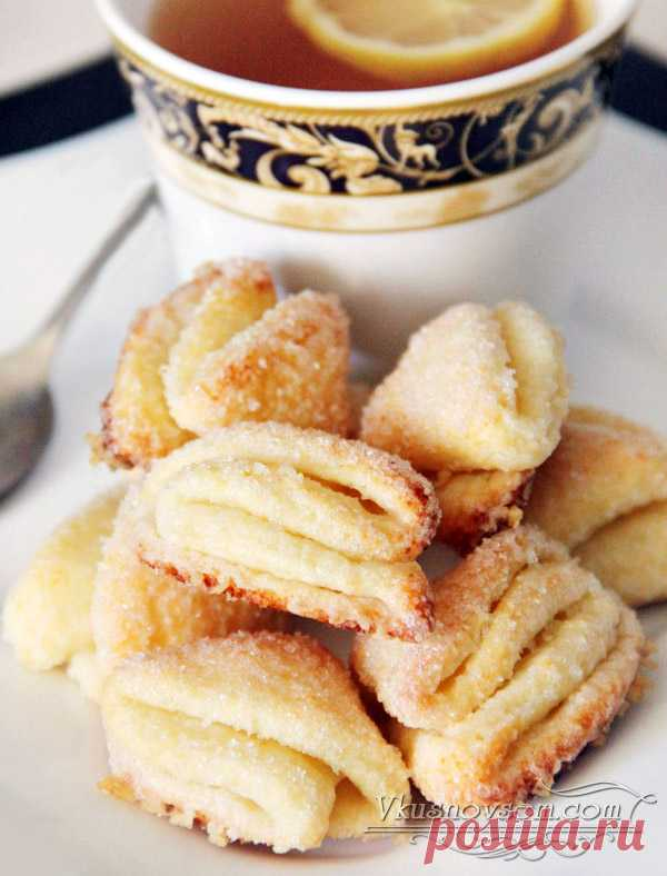 """Recipe of preparation of the cottage cheese """"Поцелуйчики"""" cookies;"""