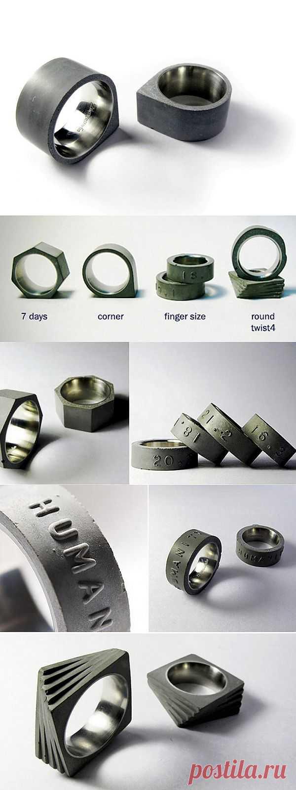 Брутальные кольца Concrete rings / Вещь / Модный сайт о стильной переделке одежды и интерьера