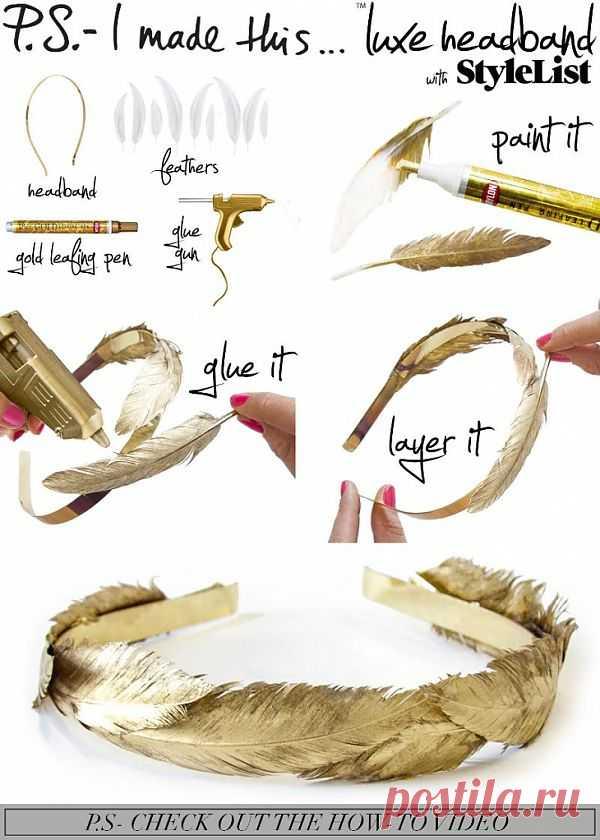 Нелавровый венок (Diy) / Украшения для волос / Модный сайт о стильной переделке одежды и интерьера